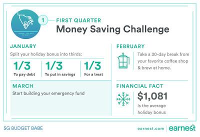 2017 (Monthly) Money Saving Challenge