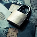 a security lock on credit cards / credit card data security and encryption