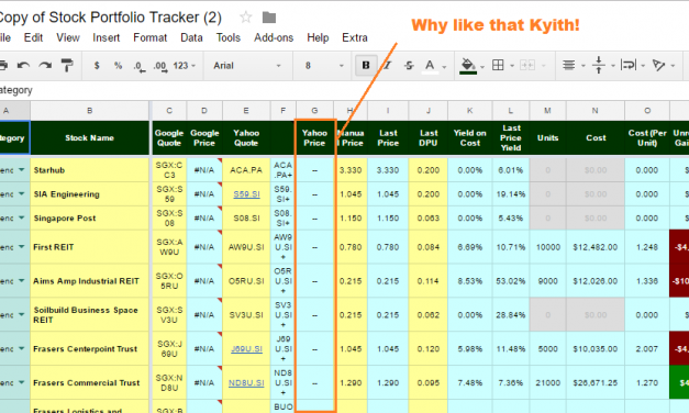 Solution to Yahoo Finance Data Not Refreshing in Google Spreadsheet