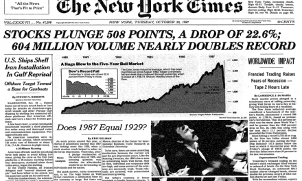 The 1987 Crash – The Environment, the Parallels with Today and The Experiences