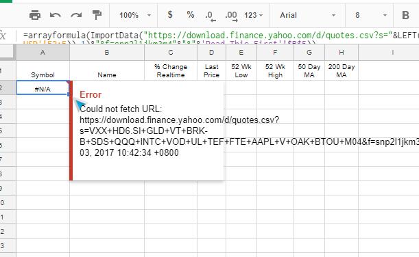 Yahoo Finance Data Shuts Down – My Modification to My Stock Portfolio Tracker