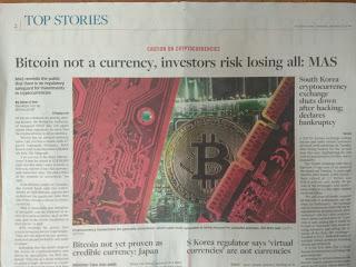 Monetary Authority of S'pore issues bitcoin warning