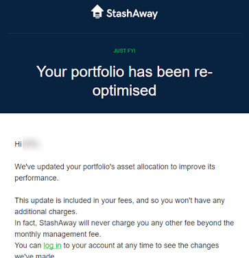 StashAway Portfolio Reoptimisation