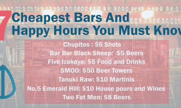 7 Cheapest Bars in Singapore And Happy Hours You Must Know