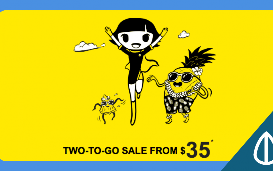 Scoot's Take-off Tuesday Sale: 2-to-go Air Tickets from $35