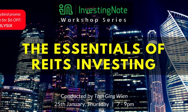 InvestingNote Workshop Series | 25th Jan 2018, 7 – 9pm