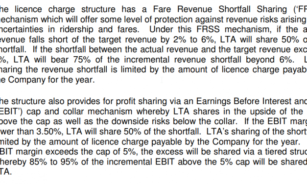 SBS Transit sells NEL and Seng Kang LRT to LTA. Moves to Rail Financing Framework. Deal does not look Good