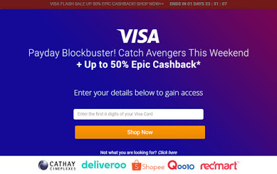 ShopBack Visa Promotion for Cathay Cineplexes This Weekend – 50% Up to $10!