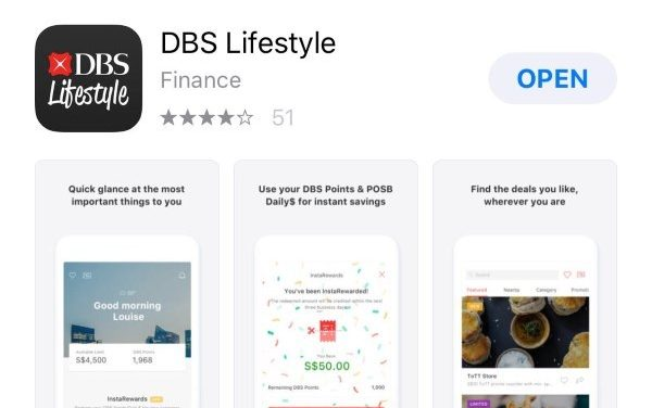 Win 50 Dollars or Vouchers With DBS Lifestyle App (Read Terms and Conditions)