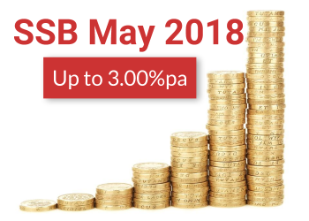 SSB Interest Rates May 2018 Up to 3.00%pa: Apply by 25 Apr