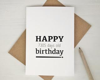20th Birthday Post