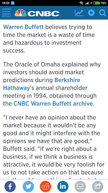 Warren Buffet On Market Timing???