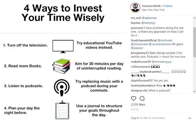 How to Invest our time wisely