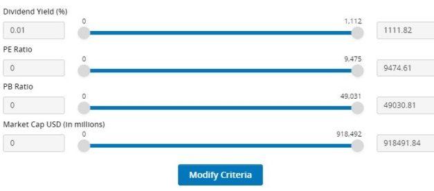 Screening For Dividend Stocks Using The FSMOne Stock Screener