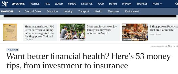 Sunday Times Article – 53 Tips for Better Financial Health