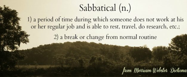 Planning for a sabbatical