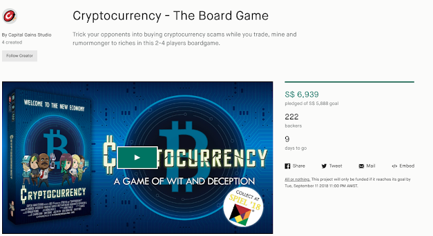 Review of Cryptocurrency – The Board Game (Kickstarter)