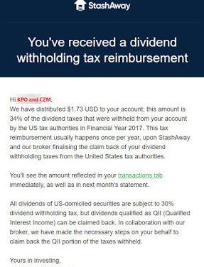 StashAway Withholding Tax Reimbursement FY 2017