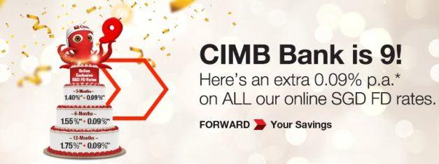 CIMB Bank 9th Birthday Fixed Deposit Promotion