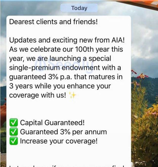 3% Guaranteed Annual Return in 3 Years with AIA Smart G3