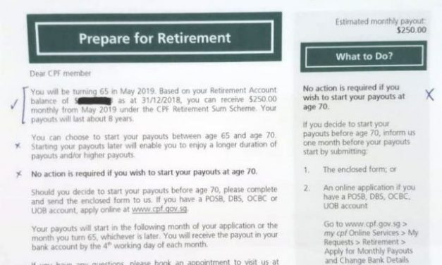 CPF Monthly Payouts Start At Age 70: What Could Have Been Done Better? Is It Still A Reliable Retirement Plan?
