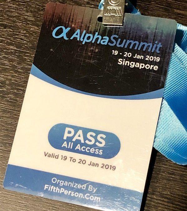 Alpha Summit 19 – 20 Jan 2019
