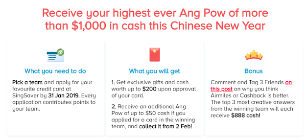 Up to $50,000 to be claimed – Are you IN? (SingSaver's Cashback vs. Air Miles Contest)