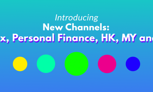 New Feature: Forex, Personal Finance, MY, US and HK market channels