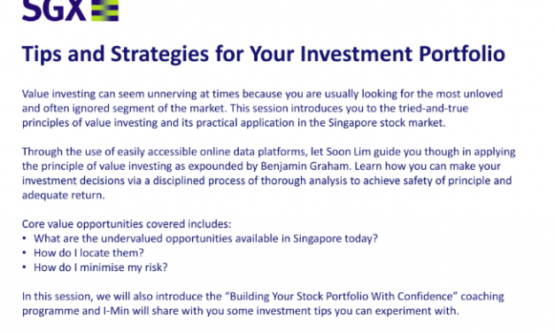 Free Seminar on Tips and Strategies For Your Investment Portfolio!