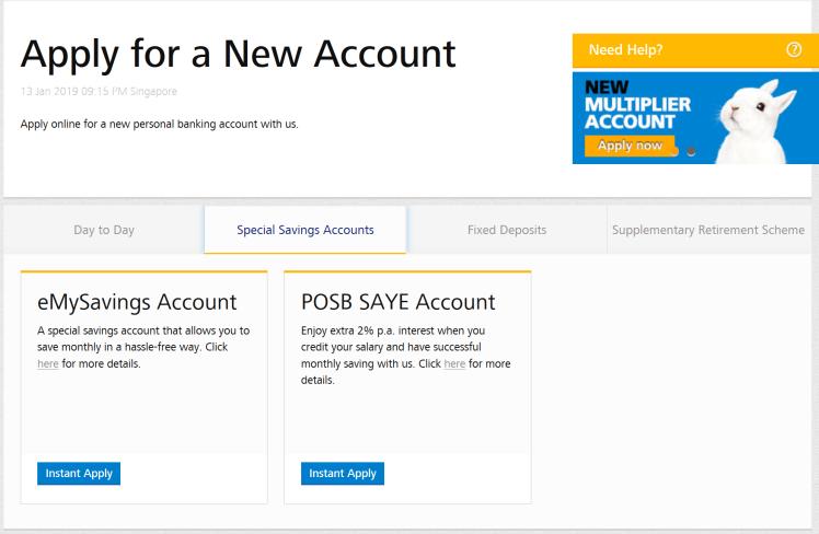 Savings Account for NSF – POSB Save As You Serve