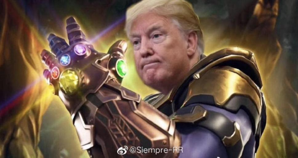"""Market Valuation at a """"Snap of the fingers """" … Thanos Trump"""