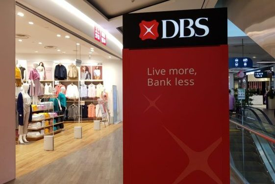 DBS share price mauled by violent forces