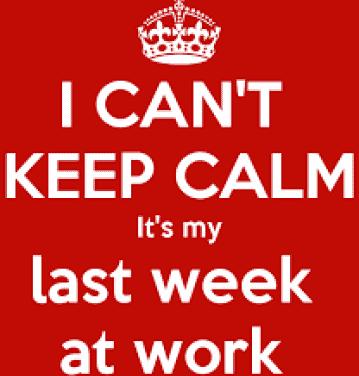 Last week of work