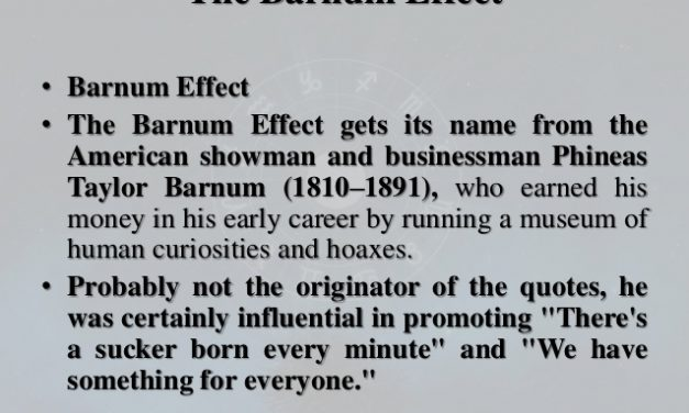 Investing and The Barnum Effect