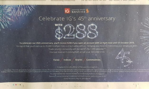 Get $288 in 3 simple steps with this sign up promo (valid till 31 Oct)
