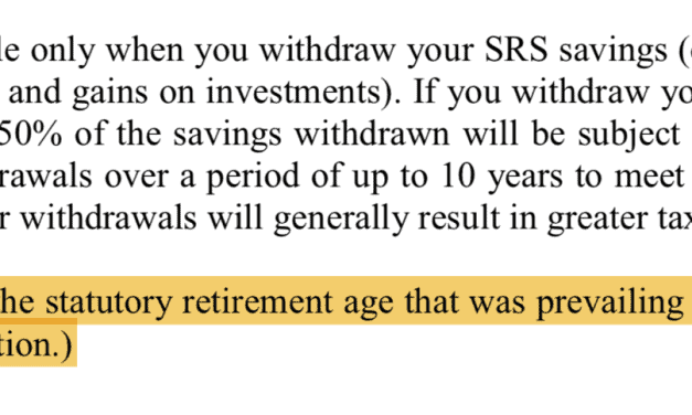 Here's Why You Should Top Up $1 To Your Supplementary Retirement Scheme (SRS) Account Today
