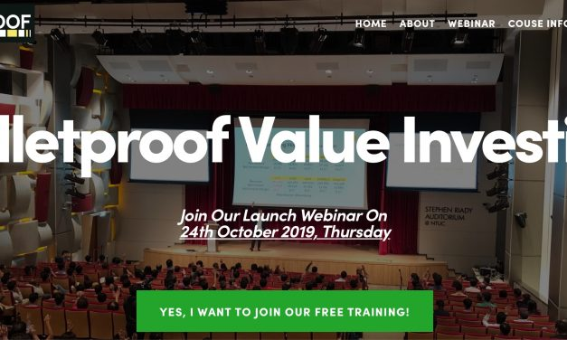 Upcoming Launch of Bulletproof Value Investing Course!