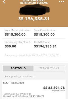 """SRS portfolio – OCBC """"dividends"""""""