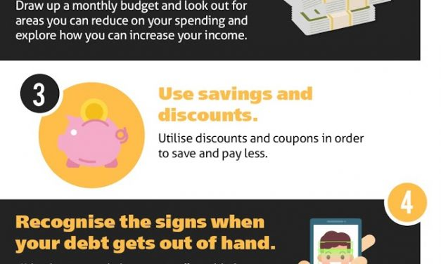 Struggling with debt? Here's 5 tips to becoming debt-free.