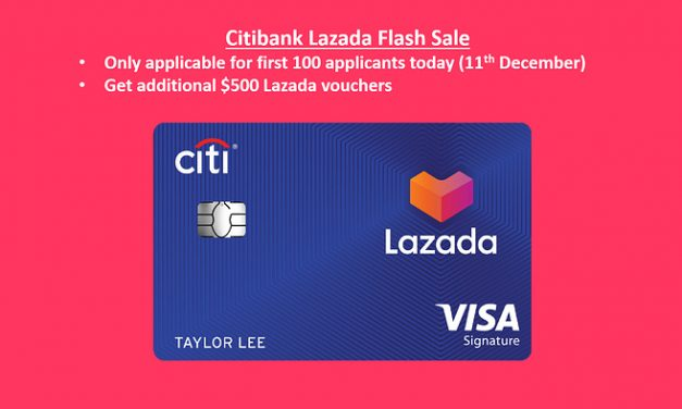 11/12 Flash Sale: Additional $500 Lazada vouchers if you are first 100 applicants who can spend $1200 in next 3 months