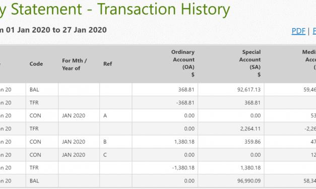 CPF Balances Update – January 2020