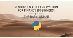 Resources to Learn Python for Finance