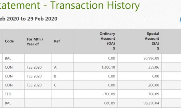 CPF Balances Update – February 2020