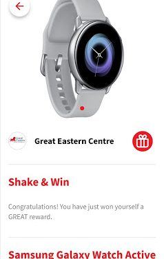 Won a free Samsung Galaxy Watch