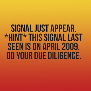 Signal just appear. Last seen is on April 2009.