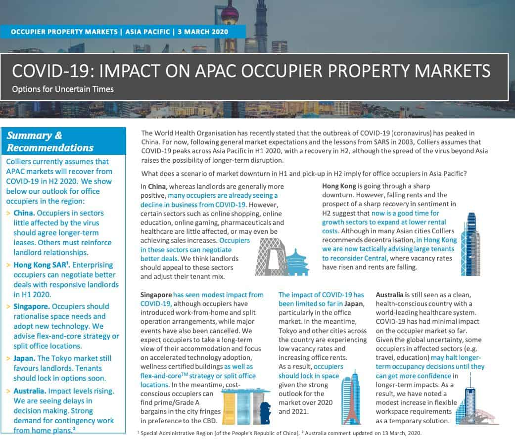 What the Experts are Saying about Covid-19 and the Singapore Property Market Outlook