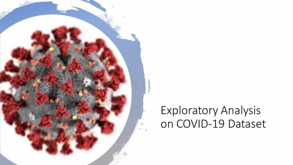 Exploratory analysis on COVID-19 Dataset with Python