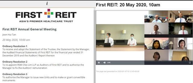 First REIT AGM 2020