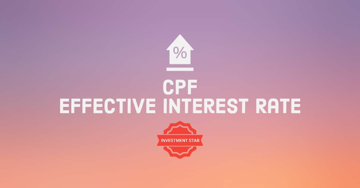 CPF Account Effective Interest Rates