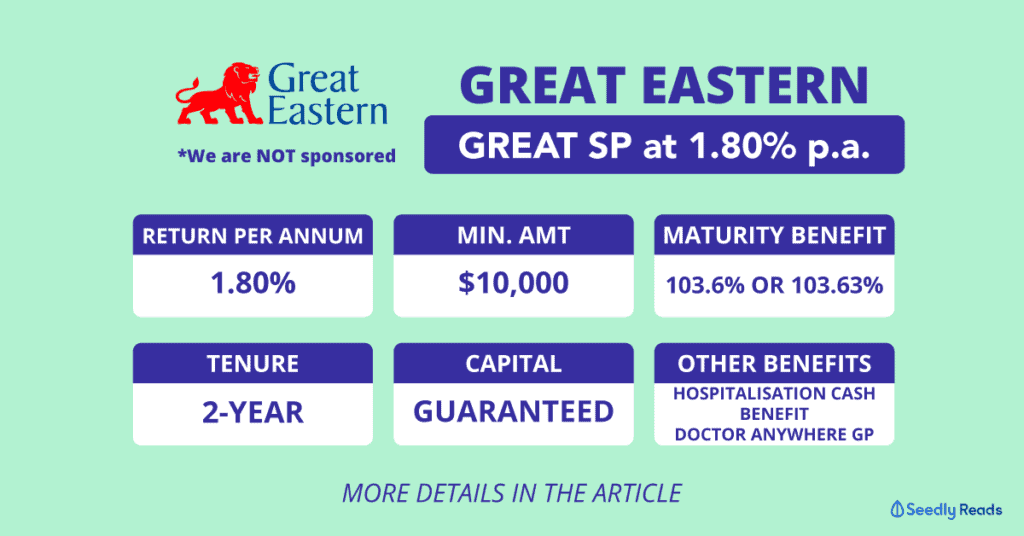 Great Eastern Great SP: 2-Year Endowment Plan with 1.8% p.a. Guaranteed Returns